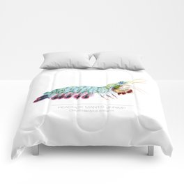 Peacock Mantis Shrimp Comforters
