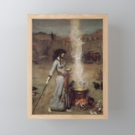 The Magic Circle, John William Waterhouse Framed Mini Art Print