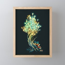 ElectriciTree Framed Mini Art Print