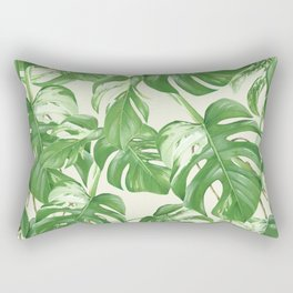 Monstera tropical leaves pattern Rectangular Pillow