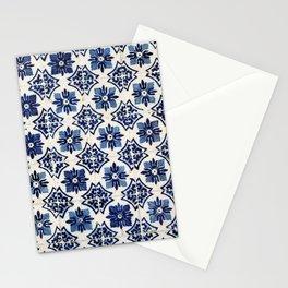 Vintage Blue Ceramic Tiles Stationery Cards