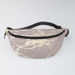 Kintsugi Ceramic Gold on Clay Pink Fanny Pack