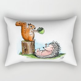squirrel & hedgehog Rectangular Pillow