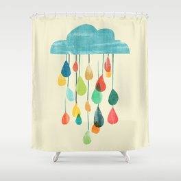 cloudy with a chance of rainbow Shower Curtain