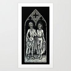 Dead Lovers (after Matthias Grünewald) Art Print