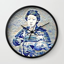"""""""The New Wave"""" Onna-bugeisha Wall Clock"""