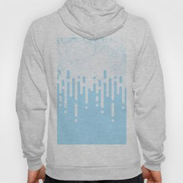 Marble and Geometric Diamond Drips, in Blue Hoody