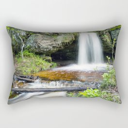 Scott Falls in Spring - Au Train Michigan Rectangular Pillow