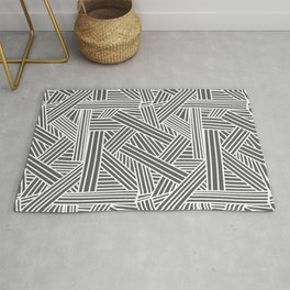 Sketchy Abstract (White & Grey Pattern) Rug