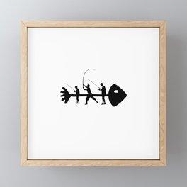 Fisherman fish fishing angler art work gift Framed Mini Art Print