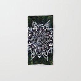 Rising Soul Mandala Design White Blue Green Hand & Bath Towel