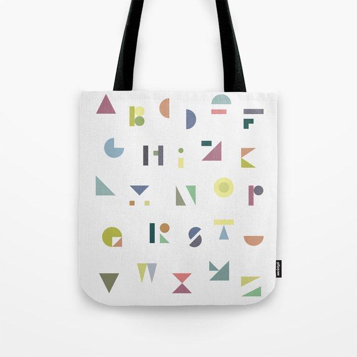 ABC colorful Tote Bag