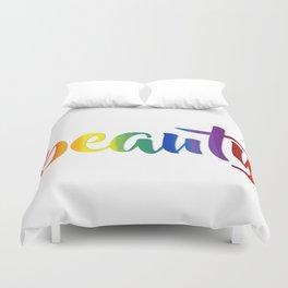Rainbow Beauty #typography #society6 Duvet Cover