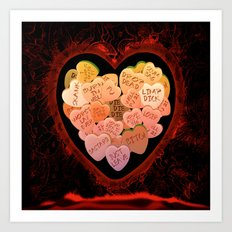 ANTI VALENTINE - 198 Art Print