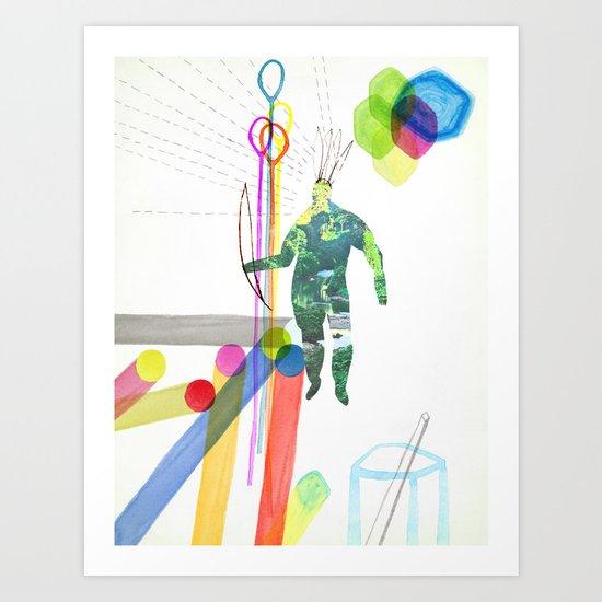 En la ciudad Art Print