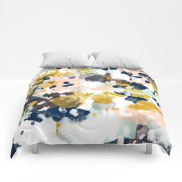 Sloane - abstract painting gender neutral baby nursery dorm college decor Comforters
