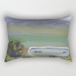 AIRSTREAM, Montana Travel Sketch by Frank-Joseph Rectangular Pillow