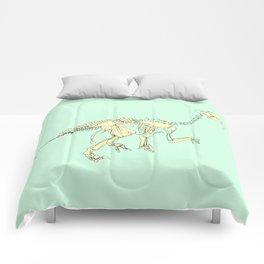 Pastel Iguanodon Comforters