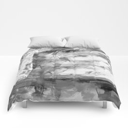 Triskelion Book Abstract Black and White by Ericka O'Rourke Comforters