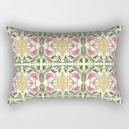 Flamingo Nouveau Rectangular Pillow