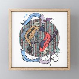 Pisces zodiac Framed Mini Art Print