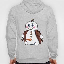flashing snowman Flasher Present Winter Christmas Hoody