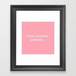 probably: pastel Framed Art Print