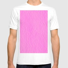 Leather Texture (Pink) Mens Fitted Tee White MEDIUM