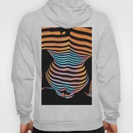 1262s-MAK Abstract Nude Woman Rendered Composition Style Hoody