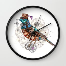 Ornate Tui Bird Wall Clock