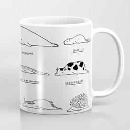 Moody Animals Pattern Coffee Mug