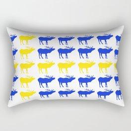 Graphic Swedish Elk Flag I Rectangular Pillow