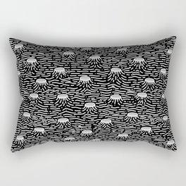 Dark Moon Surface Rectangular Pillow