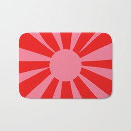 Pink Red Summer Sun Bath Mat