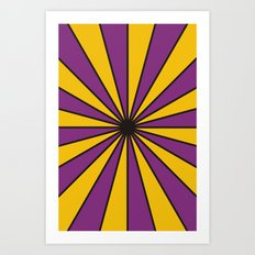 CVS0098 Purple and Poppy yellow rays Art Print