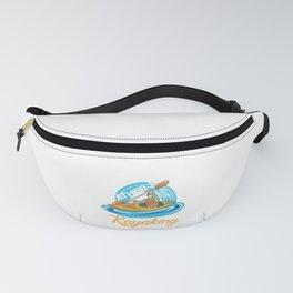 I'd Rather Be Kayaking Funny Kayaker In Kayak Gift Fanny Pack
