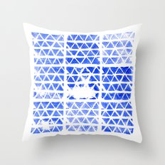 triangle stamp Throw Pillow