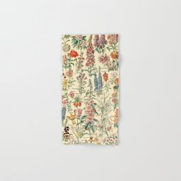 Vintage Floral Drawings // Fleurs by Adolphe Millot XL 19th Century Science Textbook Artwork Hand & Bath Towel