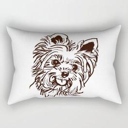 The Yorkie Dog Love of my Life! Rectangular Pillow