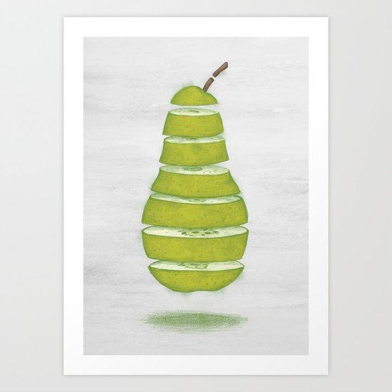 A Pear Apart Art Print