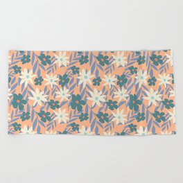 Just Peachy Floral Beach Towel
