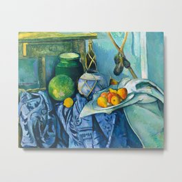 Ginger and Eggplants by Cezanne Metal Print