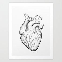 dotwork heart Art Print
