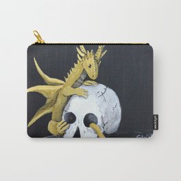 Gold Dragon & Skull Carry-All Pouch