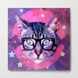 Cat of the Universe Metal Print