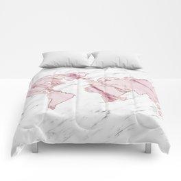 Wanderlust marble - pink stone Comforters