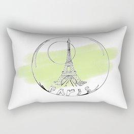 paris in a glass ball . green pastel colors Rectangular Pillow