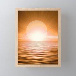 Big Bold Brilliant Sunset On The Seas #society6 #buyart Framed Mini Art Print