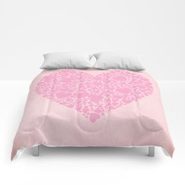 Rose Hearts Comforters