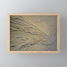 STREAMING BEACH SAND RIPPLES ABSTRACT Framed Mini Art Print